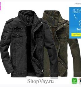 Мужская джинсовая пальто с длинным рукавом