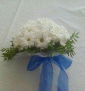 Свадебный букет из хризантемы