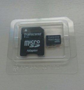 Карта памяти Transcend microSDHC 4Gb Class 4