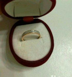 Золотое кольцо 23 бриллианта