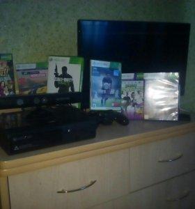 Xbox 360 + игры на фото