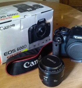 Canon 600D + Canon EF 50mm f/1.8 II