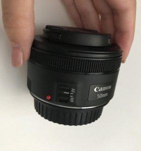 Объектив Canon 50 mm 1.8 (новый)