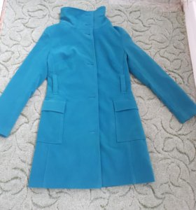 пальто цвет бирюза