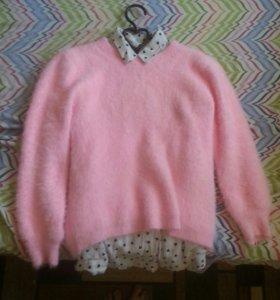 Пуловер и блузка