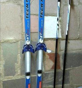 Лыжи для школьника с палками