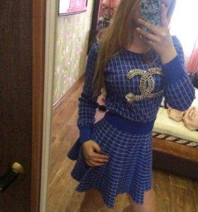 Костюм юбка+кофта шанель