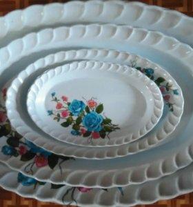 Набор пластиковых разносов(блюд)Турция