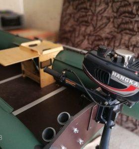 лодочный мотор hangkai 3,5 л.с