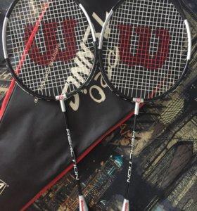 Теннисные ракетки и воланы