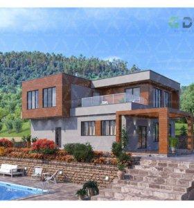 Строим роскошные кирпичные дома под ключ в Казани.
