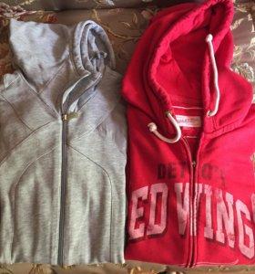 Олимпийка и куртка Detroit Red Wings+перчатки,бейс
