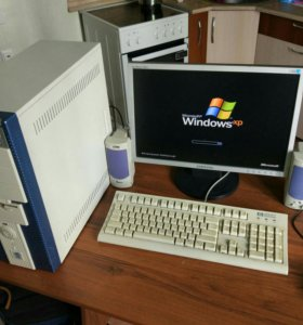 Компьютер в сборе, монитор Samsung широкий 19, HDD
