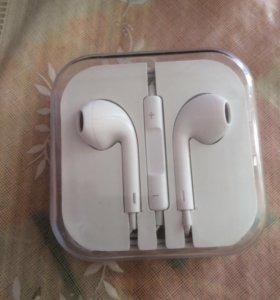 Наушники для iPhone 5 белый с микрофоном