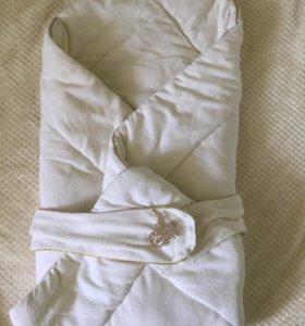 Одеяло конверт на выписку для малыша