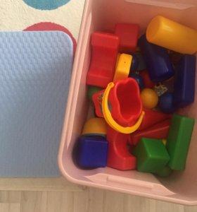 Контейнер под игрушки пластик