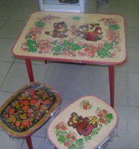Стол и табурет