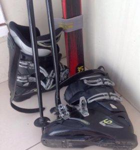 Комплект горнолыжный (лыжи, ботинки, палки)