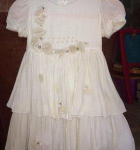 Платье нарядное плюс джемпер в подарок