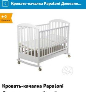 детская кроватка-качалка + матрас