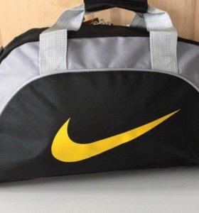 Сумка черная с серым Nike