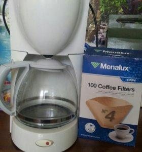 Кофеварка в месте с фильтрами