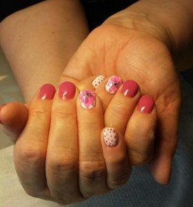 маникюр, гель-лак,наращивание ногтей