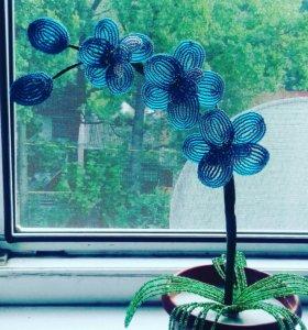 Цветы из бисера ( на заказ)