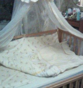 Детская кроватка-трнсформер GEOBY