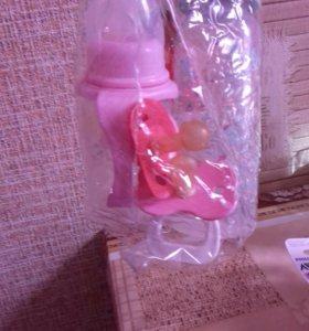 Бутылочки и соски набор