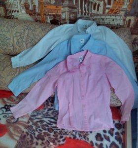 Рубашки для девочки школьные