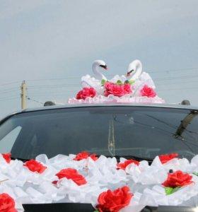 Свадебная украшения на машину