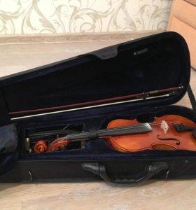 Скрипка Nova 1/2 2012 года + чехол, смычок, мостик