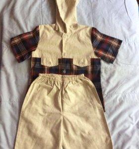Костюм для мальчика (лето), рубашка и шорты, 5 лет