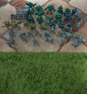 Солдаты, 43штуки и катапульты