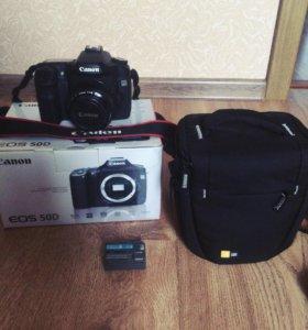Canon 50d+объектив+компакт флэш 16 гб+сумка