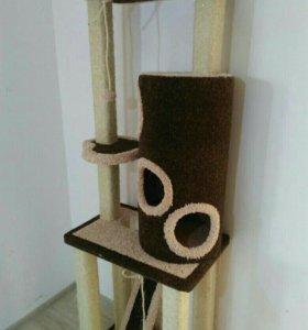 Комплекс для кошек с домиком, когтеточкой,трубой
