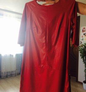 Платье , кожаное