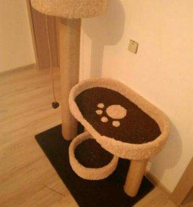 Комплекс для кошек, когтеточка с домиком