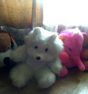 Большая игрушка слон медведь пес
