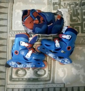 Роликовые коньки и защита