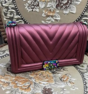 Chanel пудровая сумка
