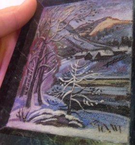 Картина на мраморе