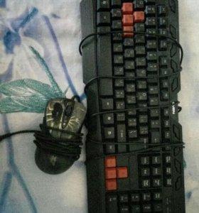 Клавиатура, мышка.
