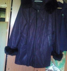 Куртка удлиненая зимняя