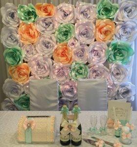 Бумажные цветы. Бумажный декор.