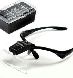 Очки радиомонтажника + 5 линз