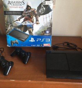 Sony PlayStation 3 super slim 500g + 7 дисков