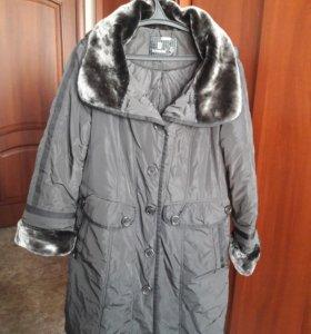 Пальто зимнее р. 58-60 маломерит
