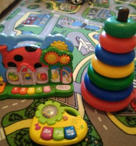 Музыкальные игрушки, пирамидка